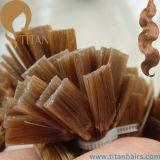 Estensione piana dei capelli di punta di Remy della cheratina umana brasiliana dei capelli (TT430)