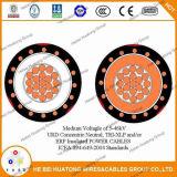 UL аттестовал кабель AWG Urd 15kv 0/4 изолированный tr-XLPE 100% воздушный связанный