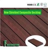 Eco madeira plástica WPC tampado que pavimenta o Decking composto