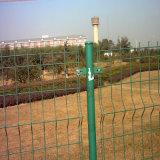 Загородка ячеистой сети Galvanized/PVC Coated с загибом