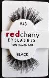 Pestaña realista cómoda del maquillaje de Cosmetic Eye Lashes Soft de la cereza de la pestaña falsa 16 del estilo de señora roja