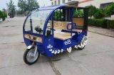 Новая рикша электрического автомобиля для пассажира, электрический трицикл использовала