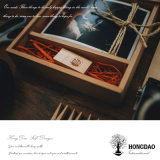 Hongdao passte hölzernen Fertigkeit-Foto-Kasten für Gift_D an