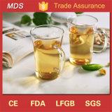 Sola taza de té de cristal china del Borosilicate al por mayor con la maneta