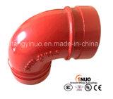 Coude Grooved de fer malléable d'homologation d'UL/FM 90 degrés 300 LPC