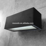 Moderne Schwarze sterben Gussaluminium-Kasten explosionssichere wasserdichte IP65 10W PFEILER LED Wand-Lampe für Badezimmer und Durchgang