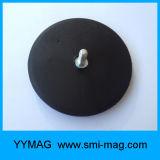 Aimant enduit en caoutchouc de bac de néodyme de D43 D66 D88
