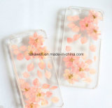 iPhone Samsung를 위한 눌러진 꽃 및 잎을%s 가진 주문 충격 증거 찰상 증거 에폭시 셀룰라 전화 상자는 싼다
