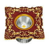 MAZORCA LED Downlight y proyector con la placa frontal de cobre amarillo forjada