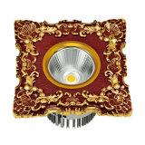 LED Downlight con la placa frontal de cobre amarillo forjada
