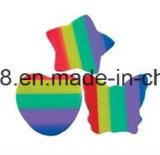 Dinosaur multicolore et sourire et gomme à effacer en caoutchouc de fantaisie d'Apple