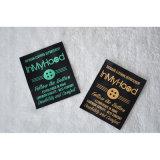 Escritura de la etiqueta de la materia textil para la ropa al aire libre