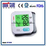 Aprobación Ce FDA con luz de fondo de la muñeca metro de la presión arterial (PA 60GH)