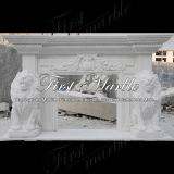 Camino bianco Mfp-231 di Carrara del camino del camino di pietra del camino di marmo del granito