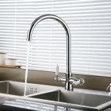 Faucet раковины кухни шарнирного соединения 2 рукоятк латунный