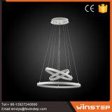 Luz decorativa Home do pendente do diodo emissor de luz da circular