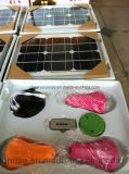 Mini lumière Emergency solaire solaire à la maison du système d'alimentation DEL avec l'USB