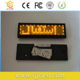 Mini y programable y recargable insignia de nombre LED