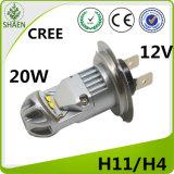 クリー族H4 LED車ライトLED車の霧の球根20W