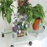 Cremalheiras móveis Tempered da flor da placa de vidro