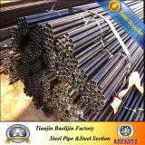 Tubo redondo soldado ERW común del hierro negro del carbón Q235/Q195
