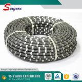 Zaag van de Draad van de Diamant van het Graniet van de Hoge Efficiency van de goede Kwaliteit de Scherpe