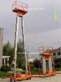 油圧二重マストの移動式アルミニウム働きプラットホーム