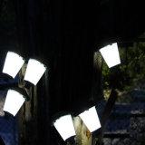 Wasserdichte angeschaltene hängende Regenschirm-Laterne-im Freiengarten-Solarlampe
