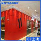 el panel compuesto de aluminio de la capa del PE de 4m m para la pared interior
