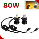 Nieuwe H4 Hi/Lo Beam 40W gelijkstroom 12V Motorcycle LED Headlights 8000k LED Headlight voor Car