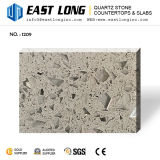 Grey Color Artificial Polished Glass Mirror Quartz Stone for Countertops