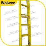 De elektrische Industriële volledig Geïsoleerdep Ladder van de Uitbreiding van de Glasvezel FRP met Haak