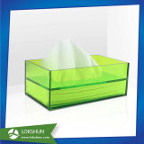 Conteneur de boîte en tissu à serviette en acrylique de nouvelle conception utilisé dans l'hôtel