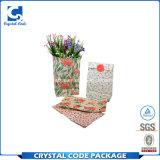 カスタム防水光沢のある薄板にされた花の紙袋
