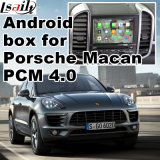 Android Interface de Vídeo do Sistema de Navegação GPS para Porsche-Macan (2017 ou posterior), Upgrade Touch Navigation, Mirrorlink, Google Map, Vista Traseira, Controle de Voz