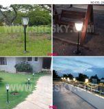 Lâmpada solar portátil de nova resina para iluminação de jardim com bateria recarregável