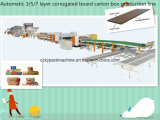 Chaîne de production de carton ondulé de 3/5/7 pli/ligne d'emballage/machine fabrication de cartons de carton