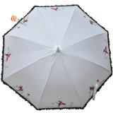 Parapluie droit en dentelle en dentelle en métal (YS-1004A)
