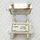 4-Way tipo porta 1 del divisore F del segnale del divisore 5-1000MHz CATV del connettore in 4 fuori