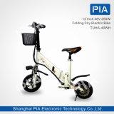 12 bici eléctrica plegable de la ciudad de la pulgada 48V 250W (THHA-40WH)