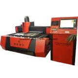 Machine de découpage commutée entièrement incluse de laser de fibre pour la plaque signalétique
