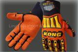 Gants mécaniques de sport d'anti vibration avec des gants de dos de choc de TPR