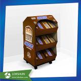 Étalage d'étage de carton de roue pour des nourritures de chocolat