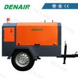 Тепловозный портативный/подвижной/передвижной компрессор воздуха винта с хорошими просмотрениями