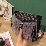 Piccolo sacchetto del messaggero delle signore di modo di Revit del metallo del cuoio di riserva della nappa