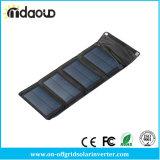 이동 전화 또는 힘 은행 배터리 충전기 자유롭게 발송하는 USB에 의하여 출력되는 태양 전지판 충전기 고품질을%s 휴대용 7W 태양 충전기