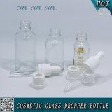 50ml 30ml 20ml transparente Glastropfenzähler-Flaschen-Plastikkind-Beweis-Tropfenzähler-Schutzkappe