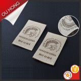 Etiqueta tecida do teste padrão da fábrica vestuário decorativo de utilização comum direto