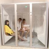 Sitio de la sauna del anuncio publicitario y del vapor mojado del hogar