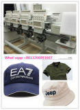Mutiヘッド刺繍機械4 9-12のカラーを刺繍する帽子およびTシャツのためのヘッドによってコンピュータ化される刺繍機械